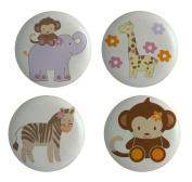 Giraffe Monkey Jungle Set of 4 Ceramic Knobs