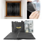 Blackout Buddy - 2 x Portable Blackout Blinds / Curtain for Home and Travel