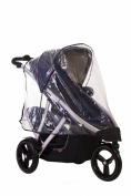 phil & teds Stormy Weather Cover for Vibe and Verve Strollers, Double
