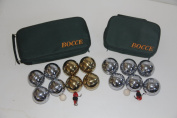 Combo 73mm Metal Bocce and Petanque 2 pack with green bags