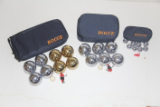 Combo 73mm Metal Bocce, Petanque and Mini Bocce 3 pack with blue bags