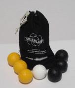 Standard 7 ball black & yellow small family Murble set.
