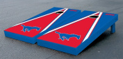 Southern Methodist University SMU Mustangs Cornhole Game Set Triangle Wooden