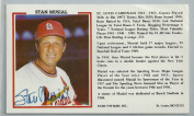 Official Photo Card From Stan The Man, Inc. Signed By Stan Musial JSA Certified