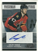 2012/13 Certified Hockey Colby Robak Freshman Signatures Auto Card # 575/999
