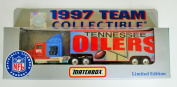 Matchbox White Rose 1997 NFL Team Collectible 1:80 Scale Diecast Tractor Trailer TENNESSEE OILERS