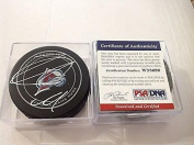 Nathan MacKinnon Signed Puck - Official COA Avs a - PSA/DNA Certified - Autographed NHL Pucks