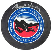 Gump Worsley Signed Puck - Hall of Fame - Autographed NHL Pucks
