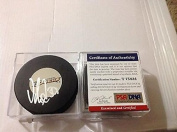 Signed Viktor Fasth Hockey Puck - COA f - PSA/DNA Certified - Autographed NHL Pucks