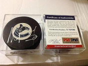 Alexandre Burrows Signed Puck - c - PSA/DNA Certified - Autographed NHL Pucks