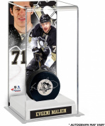 Evgeni Malkin Pittsburgh Penguins Autographed Puck with Deluxe Tall Hockey Puck Case - Fanatics Authentic Certified