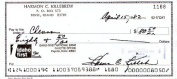 Harmon Killebrew (D. HOF) Original Signed Personal Cheque Dated 1982 - Bold Signature - Name and Address Printed at Top of Cheque - Minnesota Twins Great Hall of Famer