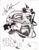 """Limited Edition Print of Artwork of Ken """"The Snake"""" Stabler Autographed By Ken"""