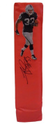 Tyvon Branch Autographed / Signed Custom Oakland Raiders Full Size Photo Football End Zone Pylon, Proof Photo
