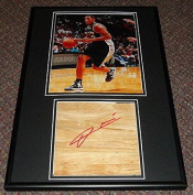 Boris Diaw Signed Framed 12x18 Floorboard & Photo Display San Antonio Spurs - Autographed NBA Floor Boards