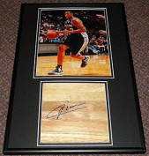 Boris Diaw Signed Framed 12x18 Floorboard & Photo Display Spurs - Autographed NBA Floor Boards