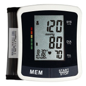 FDA CERTIFICATED WRIST BLOOD PRESSURE AND HEART RATE MONITOR WITH WHO HYPERTENSION, IRREGULAR HEART BEAT INDICATORS