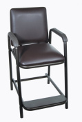 Drive Medical Deluxe Hip High Chair with Comfortable Padded Seat, Brown Vein