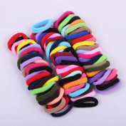 Janecrafts Cute 24-100pcs Girl Elastic Hair Ties Band Ponytail Holders Scrunchie Mixed Colours