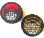 Bad Andy's Beard Balm Combo Pack - Original and TACTICAL - both all natural beard balms to soften, condition and help control facial hair. Original scented and Tactical unscented.