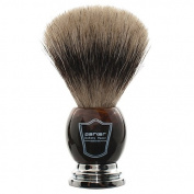 Parker Safety Razor 100% Pure Badger Bristle Faux Horn Handle Shaving Brush with Brush Stand