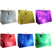 Hologram Gift Bags, 12-pc, All Occasions, Assorted Colours