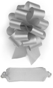 10 Silver Pull Bows 14cm Diameter 20 Loops Gift Wrapping Wrap Ribbon Bow