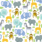 Zoo Animals Gift Wrapping Paper Roll 60cm X 4.9m