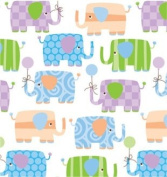 Baby Elephants Gift Wrapping Roll 60cm x 4.6m - Baby Shower Gift Wrap Paper