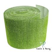 Apple Green Diamond Mesh Wrap Roll Rhinestone Crystal Ribbon 11cm x 10 yards