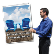 0.6mx0.9m Giant Retirement Party Card with Envelope - Relaxation Awaits