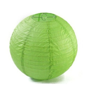Domire 12 Pcs 20cm Green Chinese Paper Lanterns/lamps for Parties, Weddings