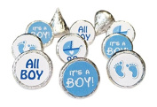 Boy Baby Shower Favours 324 Stickers for Kisses Candies