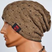 Men Reversible Slouchy Beanie Hat Unisex Skull Hat