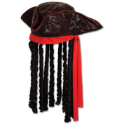 Caribbean Pirate Hat Party Accessory (1 count)