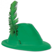 Beistle 33939 48-Pack Velour Alpine Hats, Green and Gold
