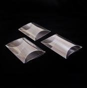 PVC Invitation clear boxes for party favours, weddings, packaging - Pillow Shape 7cm x 6.4cm x 0.2220cm - 1 dozen