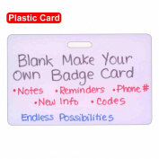 Blank Plastic Horizontal Make Your Own Badge ID Card Pocket Reference Guide