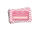 Pink Chevron Printed Nappy Raffle Tickets Girl Baby Shower Games