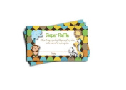 Jungle Printed Nappy Raffle Tickets Boy Neutral Baby Shower