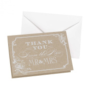 Hortense B Hewitt Country Blossom Thank You Cards, 50-Pack
