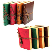 Estone Classic Retro Vintage Leather Bound Blank Pages Journal Diary Notepad Notebook