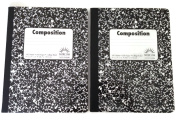 Double Pack Black and White Abstract 100 Sheet / 200 Page Composition Books