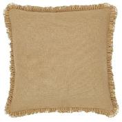 Burlap Natural Fabric Euro Sham w/ Fringed Ruffle 70cm x 70cm