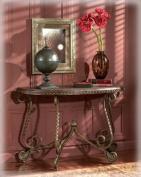 Rafferty - Traditional Dark Brown Sofa Table