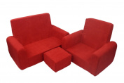 Fun Furnishings 65232 Toddler Sofa, Chair and Ottoman Set