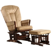 2 Post Glider - Multiposition, Recline & Ottoman Combo Platinum Collection Nursing/Coffee/Light Brown