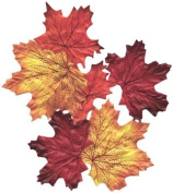 100 Silk Autumn Leaves Assorted Festive Fall Colours Country Wedding Floral Décor