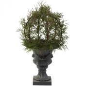 Nearly Natural 4956 80cm Indoor/Outdoor Pond Cypress Topiary with Urn, Green