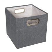 JJ Cole Heather Storage Box, Slate, 28cm